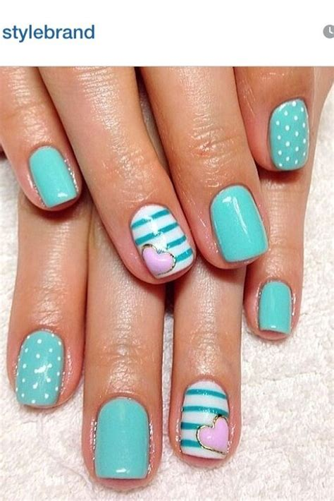 teal nail designs pretty designs