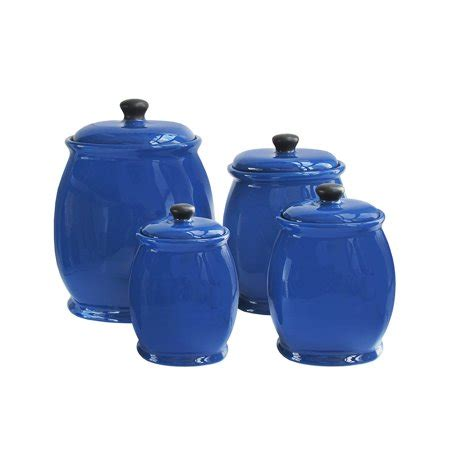 Kitchen Canister Sets Walmart by American Atelier Blue 4 Kitchen Storage Jar Canister