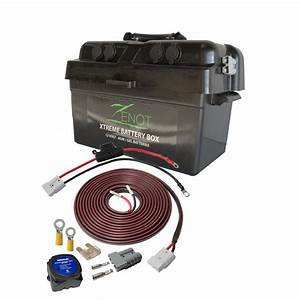 Zenot Extreme 12v Portable Dual Battery Box With Vsr And