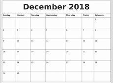 December 2018 Calendar Cute printable 2017 calendars