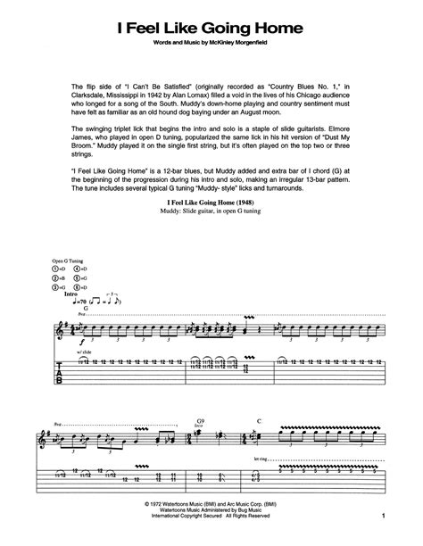 Homes That Feel Like Home by I Feel Like Going Home Guitar Tab By Muddy Waters Guitar
