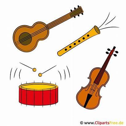 Musik Cliparts Clip Clipart Instruments Kostenlos Clipartsfree
