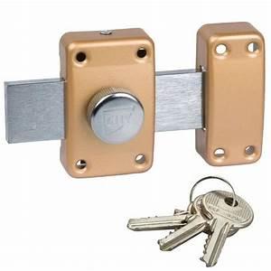 verrou a bouton pour porte de garage cyl 40 mm pene 160 mm With verrou de porte de garage