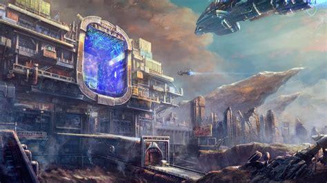 futuristic city wallpapers
