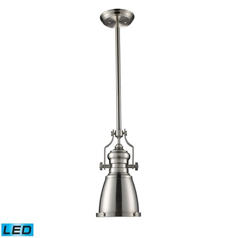 titan lighting chadwick 1 light pendant in satin nickel