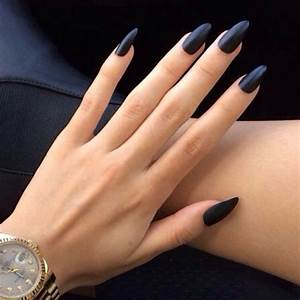 Matte black nail polish | pedicure, manicure | Pinterest
