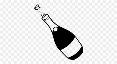 Glass Glasses Clipart Champagne Toasting Bottle Clip