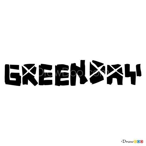 draw green day bands logos