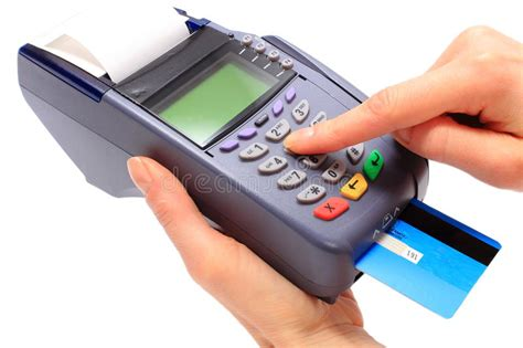 And while a cvv or cid code is harder to access than your card number, it doesn't guarantee protection. Using Payment Terminal, Enter Personal Identification Number Stock Image - Image of number ...