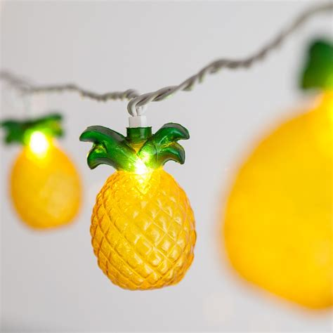novelty lights pineapple string light set  clear lights
