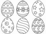 Easter Egg Coloring Eggs Printable Designs Palette Six sketch template