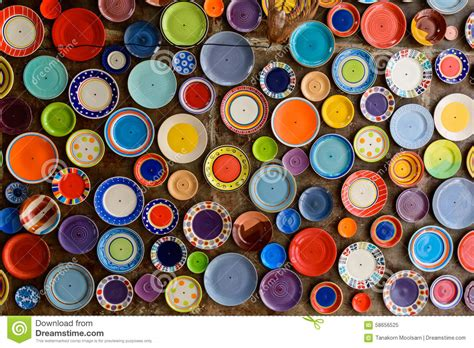 colorful dishes colorful dish stock photo image 58656525