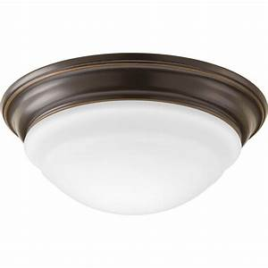 Progress lighting led flush mount in w antique