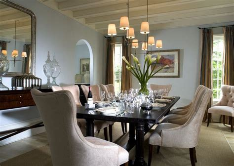 create a formal dining room with furniture and complementary paint colors paint