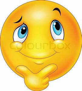 Illustration of Cartoon emoticon thinking | Stock Vector ...