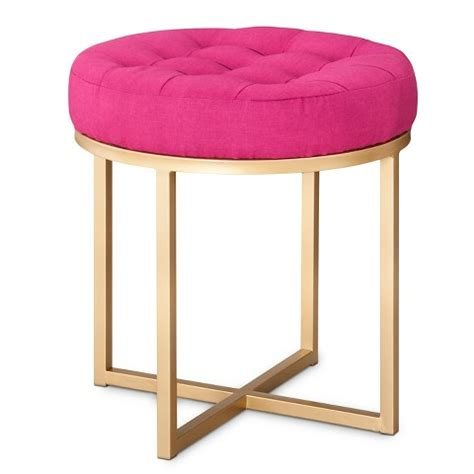 threshold button tufted ottoman pink target