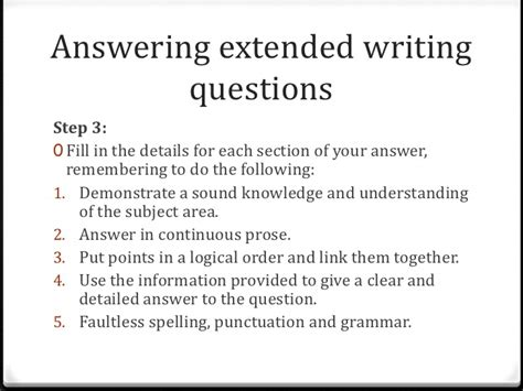 creative writing questions gcse