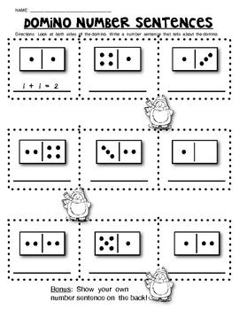 domino math worksheets composing and decomposing numbers by class of kinders