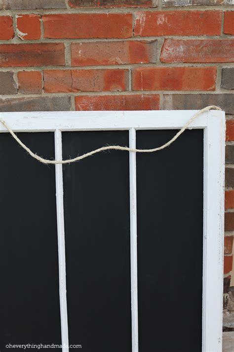 diy  window frame chalkboard