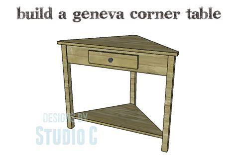 build  geneva corner table designs  studio