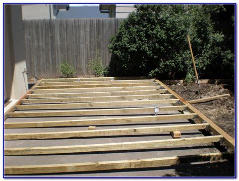 wooden deck concrete patio decks home decorating