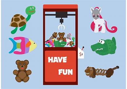 Machine Clipart Claw Arcade Toy Vector Toys