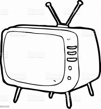 Television Cartoon Drawing Line Dessin Doodle Clipart