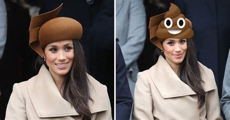 Brown Hat Meme - people have been comparing meghan markle s hat to the poo emoji metro news