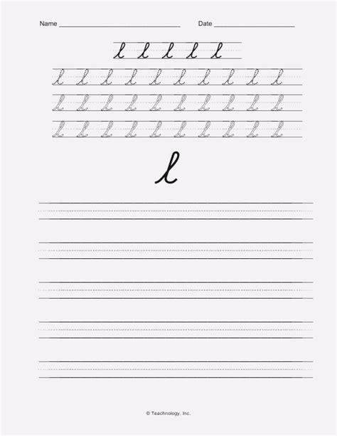 Cursive Writing L Dailypollco