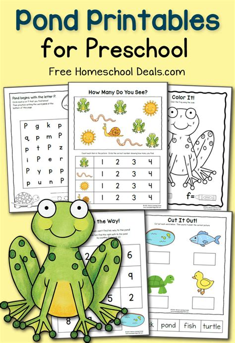 pond preschool worksheets pond best free printable