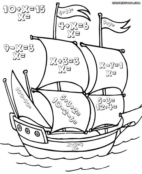 math coloring pages coloring pages    print