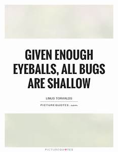 Given enough eyeballs, all bugs are shallow | Picture Quotes