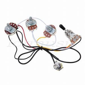 Electric Guitar Wiring Harness 2 Volume 1 Tone 500k 3 Way