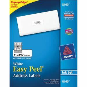 829 best deal ever avery inkjet mailing labels 1quot x 2 With costco address labels