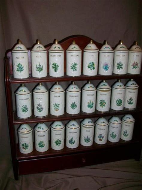 24 Spice Rack by Used Lenox Spice Garden 24 Jar Set Wood Spice