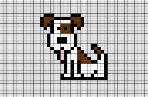 dog sit pixel art brik