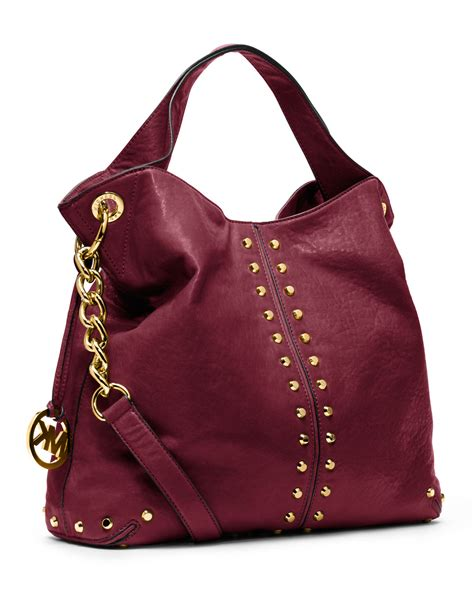 michael michael kors large uptown astor shoulder bag  red lyst