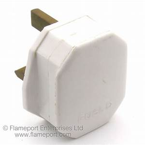 Unbranded White Plastic 13a Plug