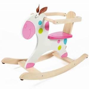 Cheval A Bascule Rose : cheval bascule rose et blanc pois scratch ~ Teatrodelosmanantiales.com Idées de Décoration