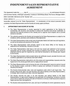 Independent contractor agreement 15 free sample for Independent sales rep contract template