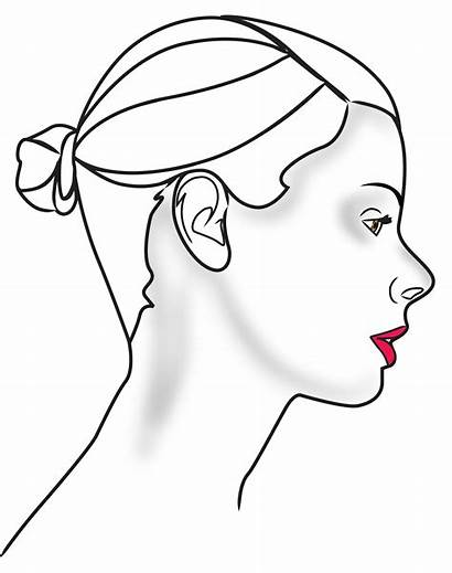 Outline Face Side Drawing Female Clipart Profile