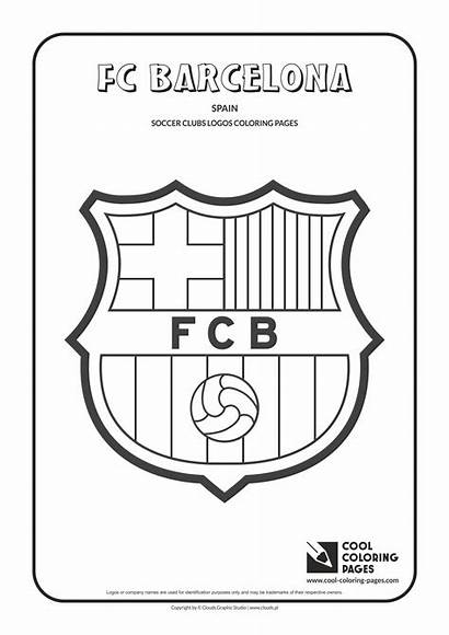 Coloring Soccer Pages Barcelona Cool Fc Logos