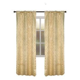 allen roth raja curtains allen roth bannerton 84 in l solid gold thermal rod pocket