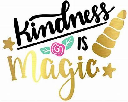 Kindness Clipart Adherence Magic Unicorn Stickers Vinyl