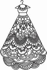 Coloring Dress Printable Pages Adult Gown Delicate Designs Colouring Portrait Patterns Embroidery Coloriage Zentangles Urbanthreads Sheets Doodles Clothes Pattern Awesome sketch template