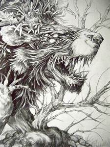 nature fantasy beast animal lion brach tree hybrid