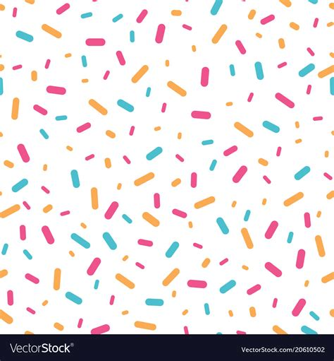 color sprinkle colorful confetti sprinkles seamless pattern vector image