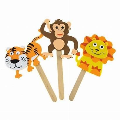 Stick Puppets Character Jungle Foam Pals Crafts
