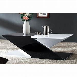 Table Basse Noir Et Blanc Table Basse Gigogne Maisonjoffrois