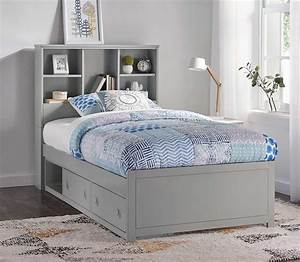 Hillsdale, Caspian, Twin, Bookcase, Bed, With, Storage, Unit